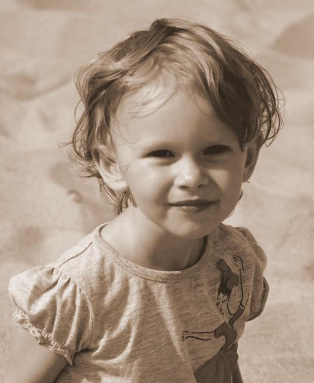Zoë on her third birthday