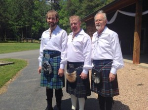 Josh, Matt & Ashley in their kilts
