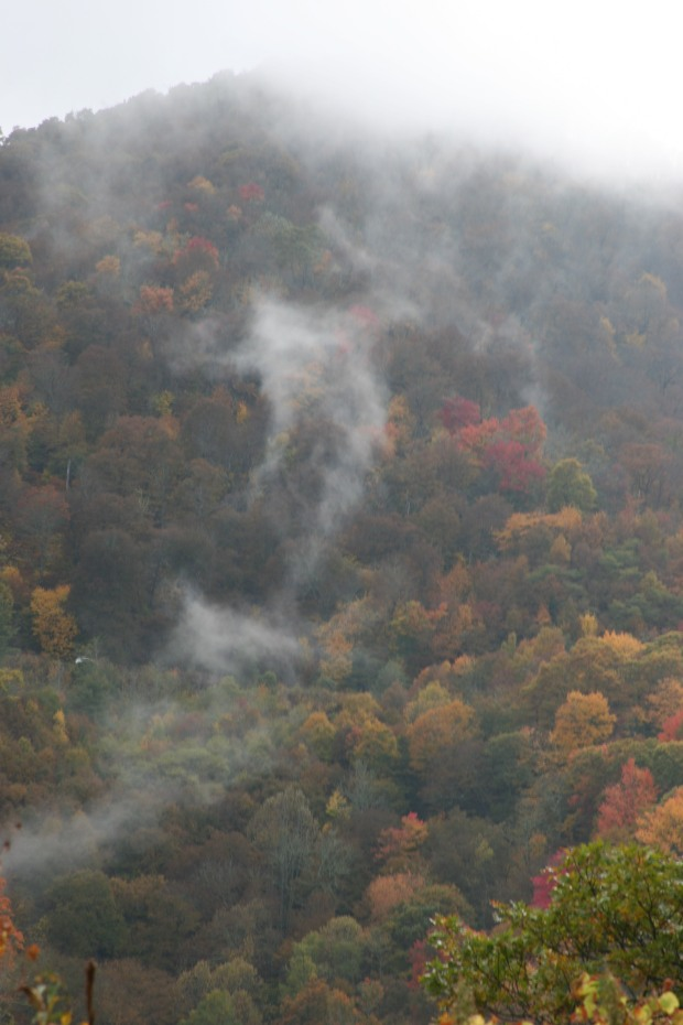 """Will o' the wisps"" of clouds helped the views live up to their name, ""The Smoky Mountains."""